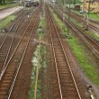 Stock Photo: Railway tracks and turnouts