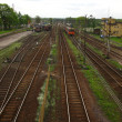Railway tracks and turnouts - Stock Photo