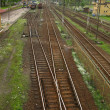 Railway tracks and turnouts — Stockfoto