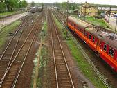 鉄道線路および待避 — ストック写真