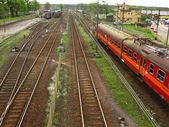 Railway tracks and turnouts — Stockfoto