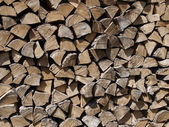 Wood chopped and stacked — Stock Photo