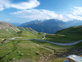 The view from the saddle Hochtor — Stock Photo