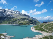 Weissee alpine lake in the Alps — Stock Photo