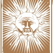 The Tarot Sun — Stock Vector