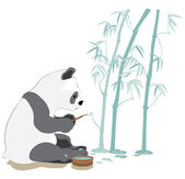 Painting panda — Stock Vector