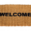 Welcome mat — Foto de Stock
