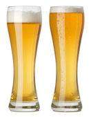 Two tall glasses of beer — Stock Photo