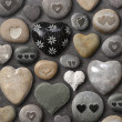Heart shaped stones and rocks — Stock Photo