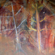Aboriginal rock art - Stock Photo