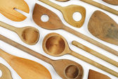 Wooden spoon background — Stock Photo
