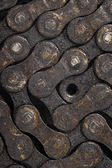 Dirty bicycle chain background — Stock Photo