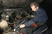 Fixing the motor — Stock Photo