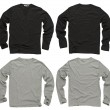Stock Photo: Blank black and gray long sleeve shirts