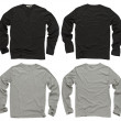 Blank black and gray long sleeve shirts — Stock Photo