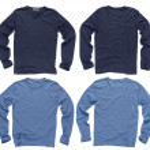 Blank blue long sleeve shirts — Stock Photo