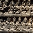 Wall from Angkor temples - Stock Photo