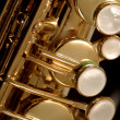 Saxophone detail - Stock Photo