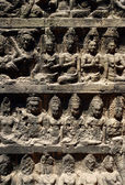 Wall from Angkor temples — Stock Photo