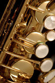 Saxophone detail — Stock Photo