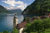 Lake Lucerne from Bauen — Stock Photo