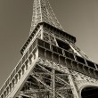 Eiffel Tower sepia - Stock Photo