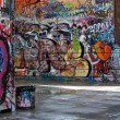 Stock Photo: Graffiti alley