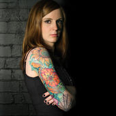Tattoo girl 3 — Stock fotografie