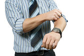Roll up his sleeves — Stock Photo