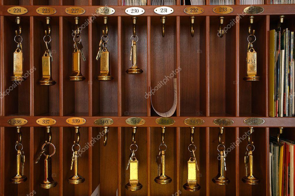 Hotel keys stock photo sumners 3168526 - Vintage hotel key rack ...