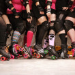 Stock Photo: Roller derby team