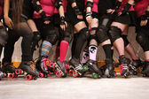 Roller derby team — Stockfoto