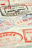 Passport background — Stock Photo