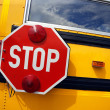 School bus stop - Stock Photo