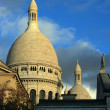 Sacre Coeur domes - Stock Photo