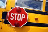 School bus stop — Stock Photo