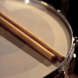 Snare drum between sets — Stock Photo #3213607