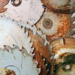 Rusty sawblades - Stockfoto