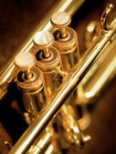Trumpet valves — Stock Photo