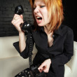 Shouting into the phone — Stock Photo #3227663