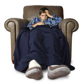 Sick in the big chair — Stock Photo