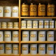 Stock Photo: Vintage pharmacy canisters