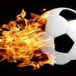 Soccer ball in flames — Stock Photo #3247863
