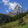 Matterhorn landscape - Stock Photo