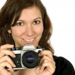 Stock Photo: Camera girl