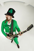 Rock and roll Leprechaun — 图库照片