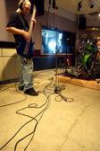In the recording studio — Stock Photo