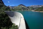 Emosson dam — Stock Photo