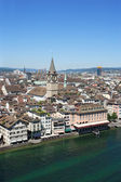 Zurich and the Limmat river — Stock Photo