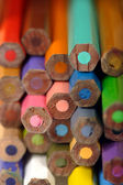 Colouring pencil ends — Stock fotografie